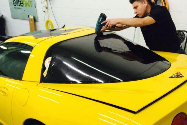 Corvette-Rear-Window-Getting-Done-In-One-Piece