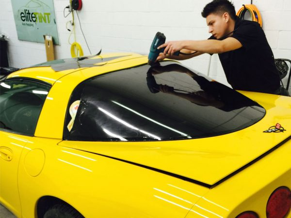Corvette-Rear-Window-Getting-Done-In-One-Piece