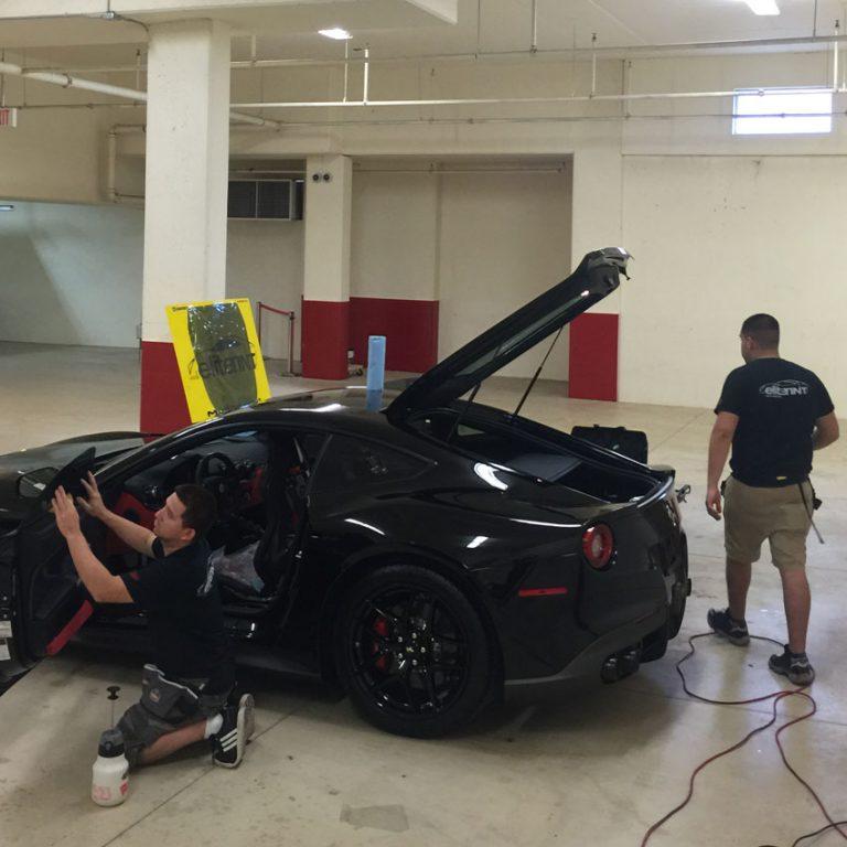 Ferrari-F12-Getting-EliteTint-Treatment