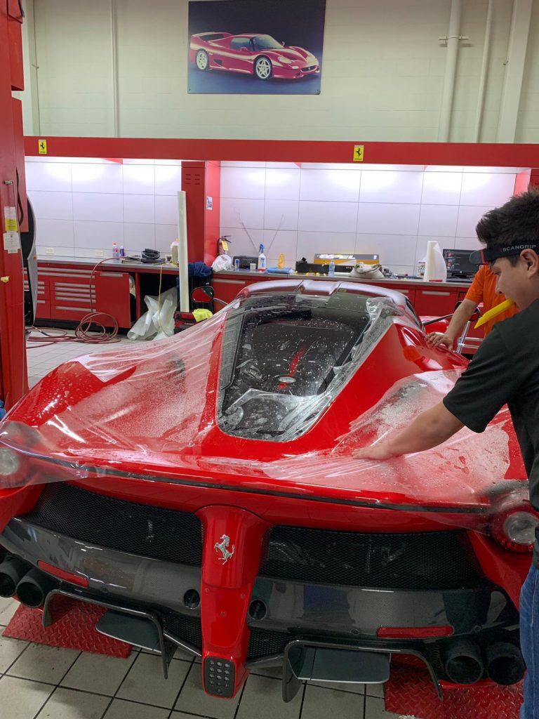 Ferrari tinting in progress