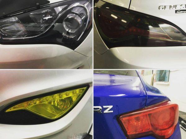 car lights tinting colour films
